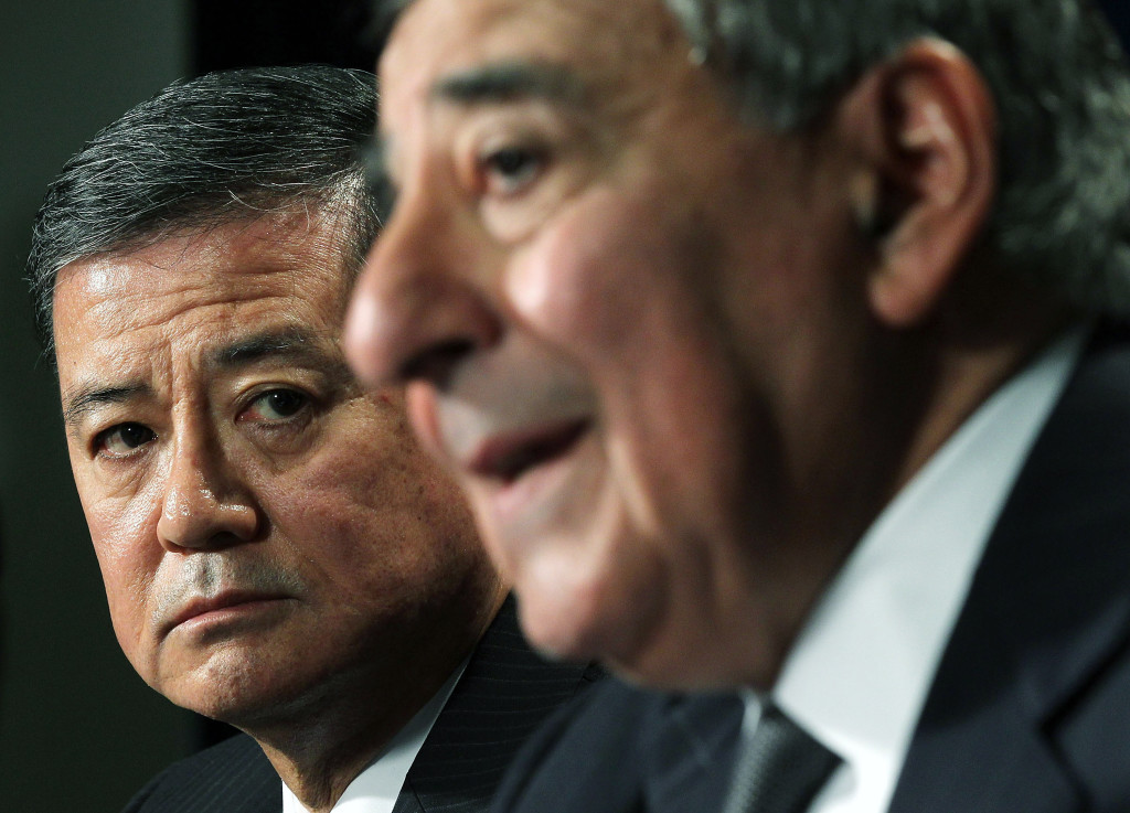 Panetta And Veterans Affairs Secretary Shinseki Hold Joint Press Conference