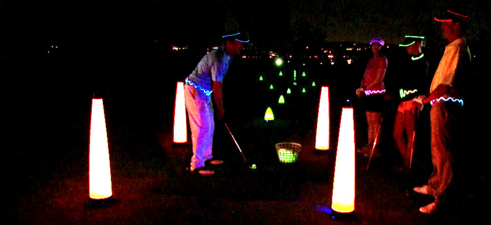 Gearing Up Laser Glow Golf