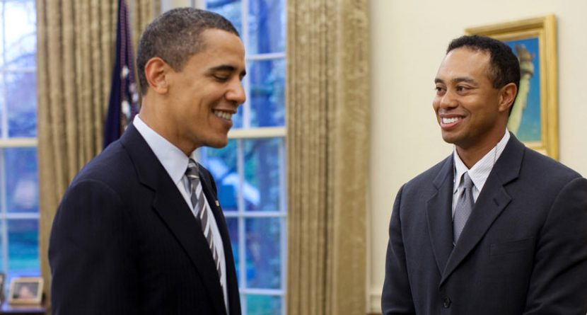 Obama, Woods Play 18 in Fla.