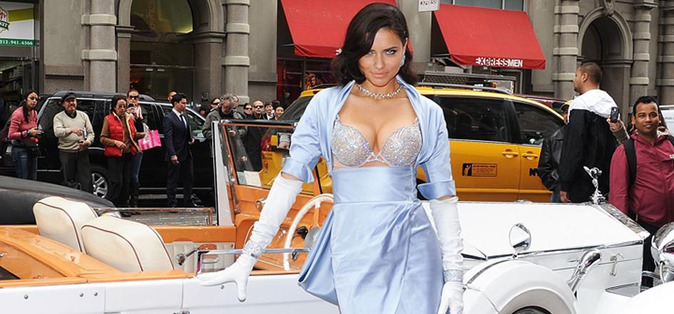 Adriana Lima Wears A Dress Backwards, And Rocks It