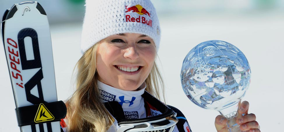 Vonn Says She Is Very Happy With Woods
