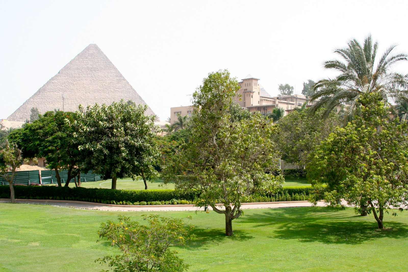 Pyramids from hotel