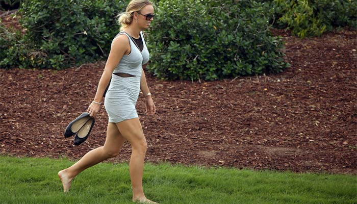 CarolineWozniackiShoeless - Masters Golf: The unwritten rules 'patrons' have to follow