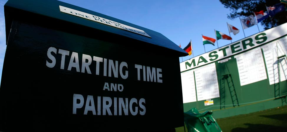 2013 Masters: First Round Groupings And Tee Times