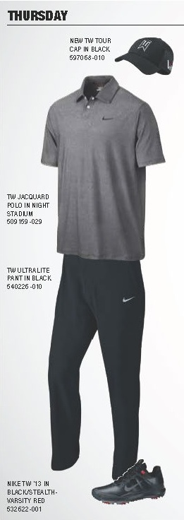 Tiger Woods Scripting Thursday