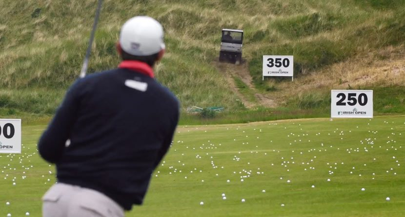 Padraig Harrington Targets The Range-Picker