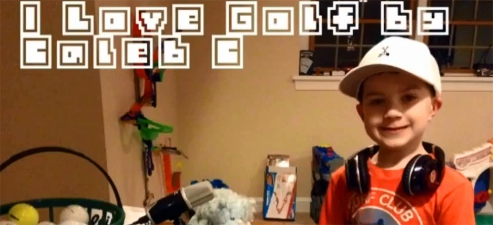 5 Year-Old Raps About Golf