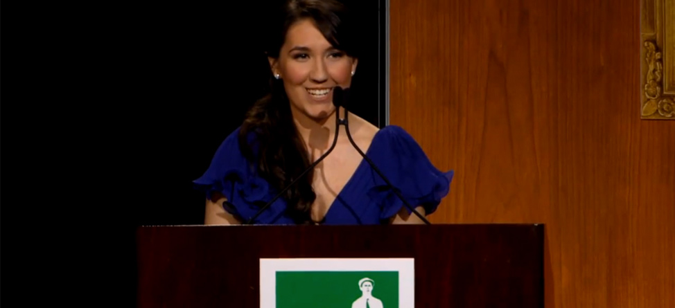 VIDEO: Ouimet Scholarship Winner's Inspirational Speech at Centennial Gala