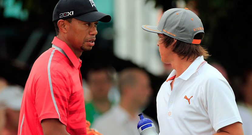 What Has Tiger Seeing Red on Sundays?