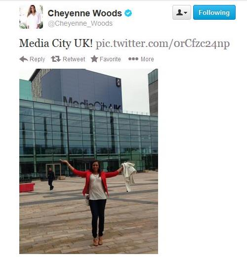 Cheyenne Woods UK Tweet