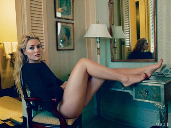 Lindsey Vonn (Annie Leibovitz/Vogue)