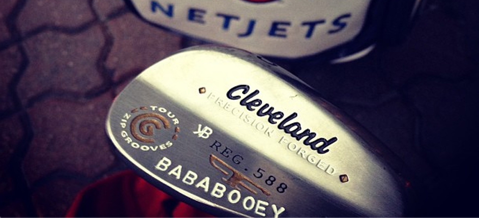 "Keegan Bradley Stamps ""Baba Booey"" On His Wedge"