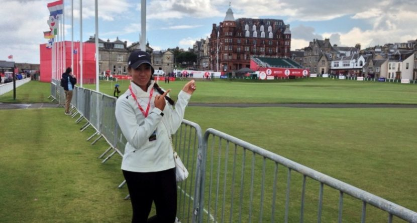 Cheyenne Woods Motivated by Visit to St. Andrews