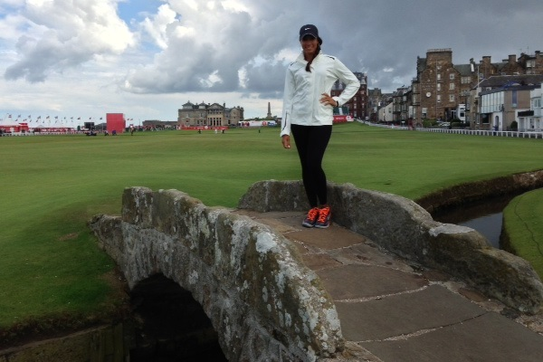 Cheyenne Woods on St. Andrews bridge