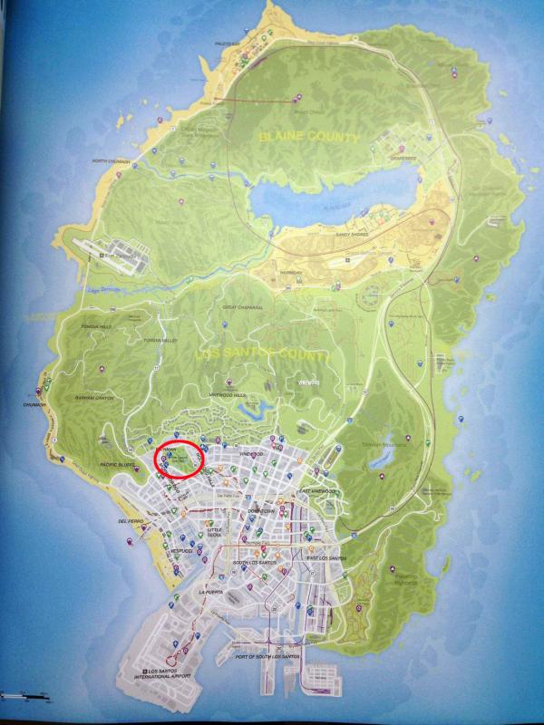 GTA map