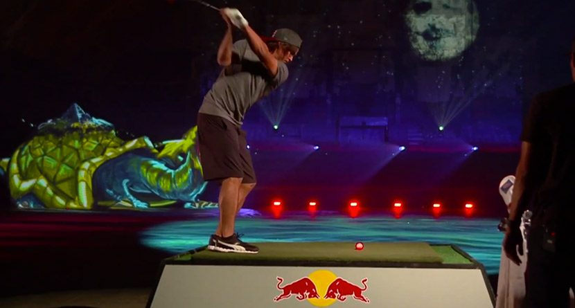Behind the Scenes: Rickie Fowler's Psychedelic Driving Range