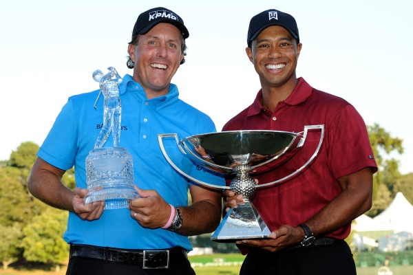 Tiger Woods Phil Mickelson 2009 Tour Championship 600px