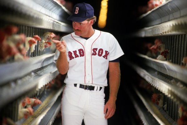 Wade Boggs with chicken