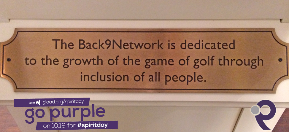 Back9Network Goes Purple to Support Spirit Day