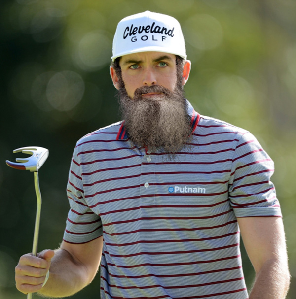 Keegan Bradley's Boston Red Sox Beard