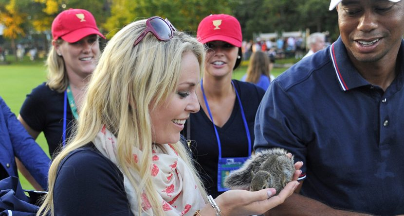 Lindsey Vonn Explains Squirrel Scare Tactic