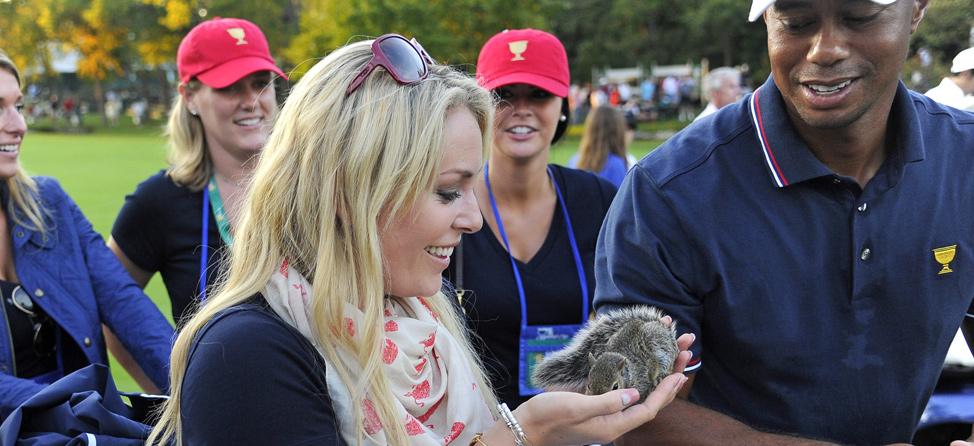 Lindsey Vonn Explains Squirrel Scare Tactic