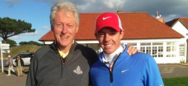 Rory McIlroy Hits Links with Bill Clinton