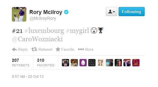 Rory Tweet