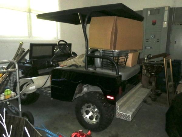 Schilling's Hummer golf cart