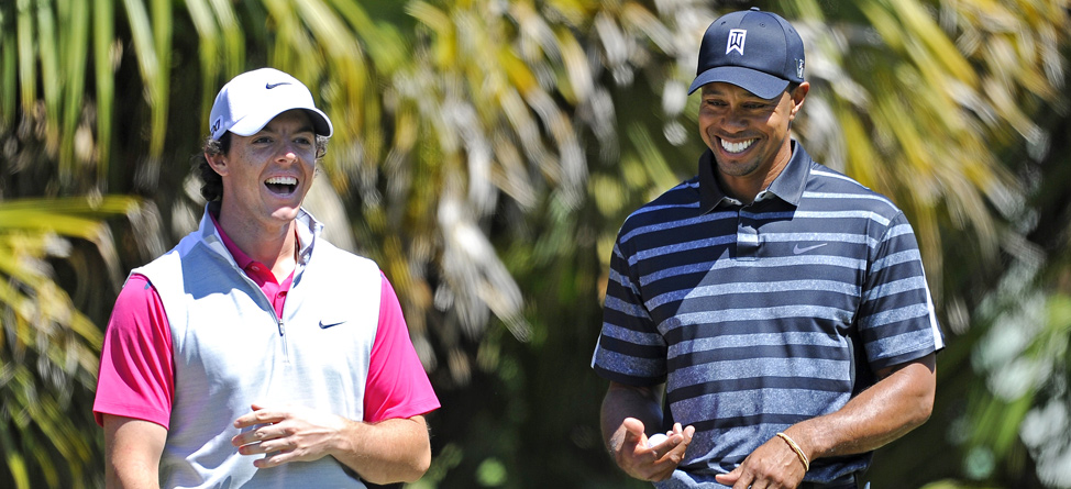 Tiger Woods, Rory McIlroy Arrive for 'The Match at Mission Hills'