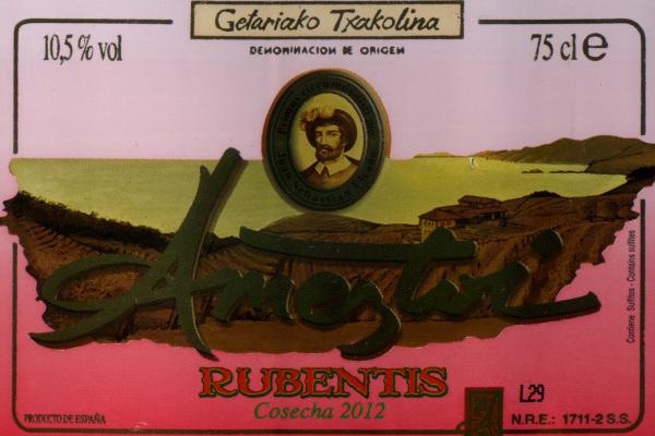 2012 Ameztoi Rubentis Rosé Txakolina