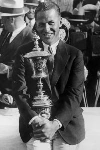Bobby Jones with U.S. Amateur trophy