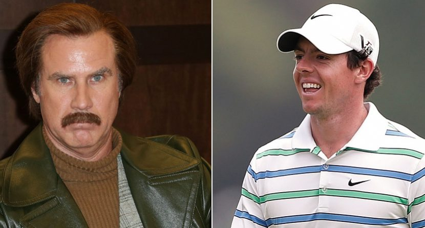Will Ferrell Gets Rory McIlroy Into 'Anchorman 2' Premiere