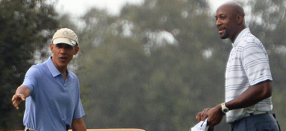 President Obama, Alonzo Mourning Golf at 'Caddyshack' Course