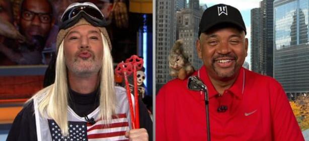 ESPN Co-Hosts Dress as Tiger Woods, Lindsey Vonn