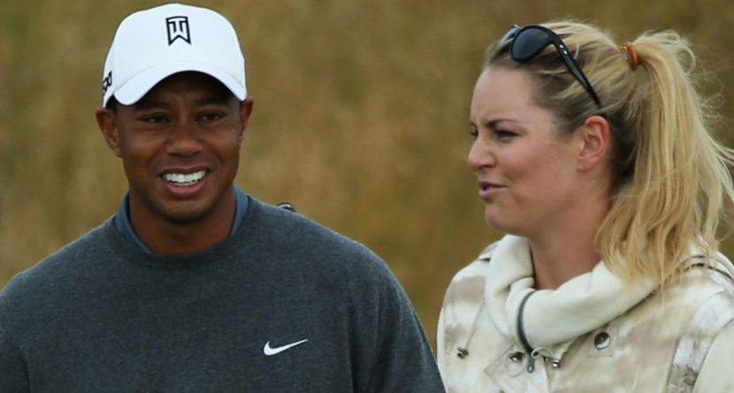 Tiger Woods Skis With Lindsey Vonn in Colorado