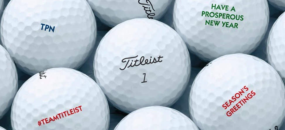 Celebrate the Holidays with Free Titleist Ball Personalization