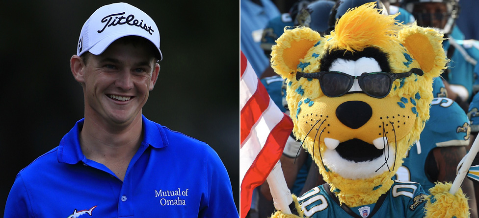 Bud Cauley Edges Jaguars Mascot in Closest-To-Pin Contest