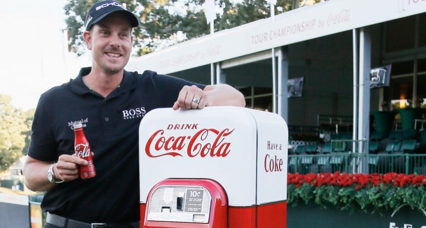 Henrik Stenson's Vintage Coke Machine Arrives
