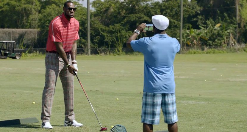 LeBron James' Golf Swing Not as Pretty as his Jumper