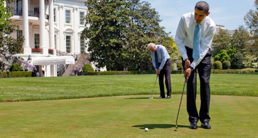 Obama and Biden Exchange Golf Gifts