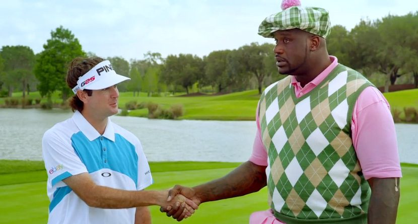 Video: Shaq, Bubba Watson Duel On The Golf Course
