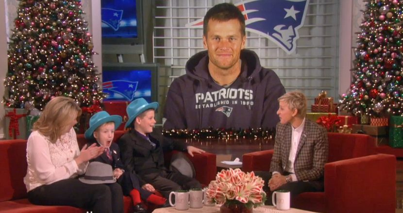 Tom Brady Surprises Boys for Taking Stand Against Bullying