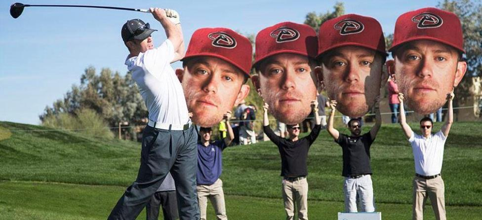 Aaron Hill's Face Makes Big Impression at Phoenix Open