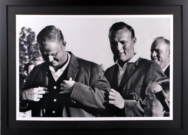 Arnold Palmer & Jack Nicklaus Autographed Framed Photo