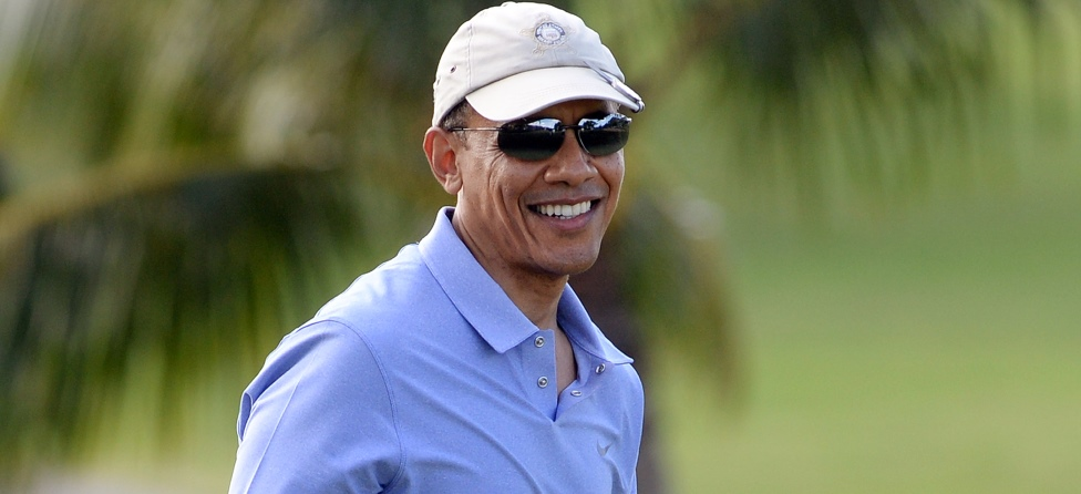 US President Barack Obama golf Hawaii