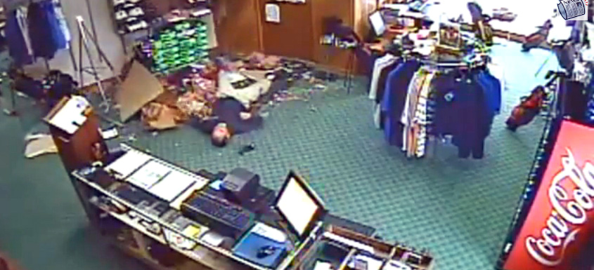 Update: Man Who Fell Through Golf Shop Ceiling is OK