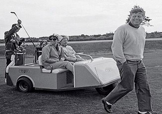 John F. Kennedy golfing