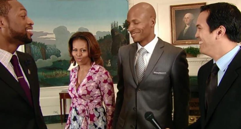 Michelle Obama Joins in on Miami Heat Video Bombs