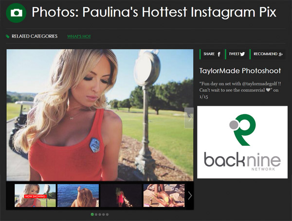 Paulina Gretzky Photo Gallery